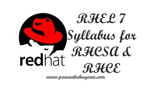 RHEL 7 Syllabus for RHCSA & RHCE